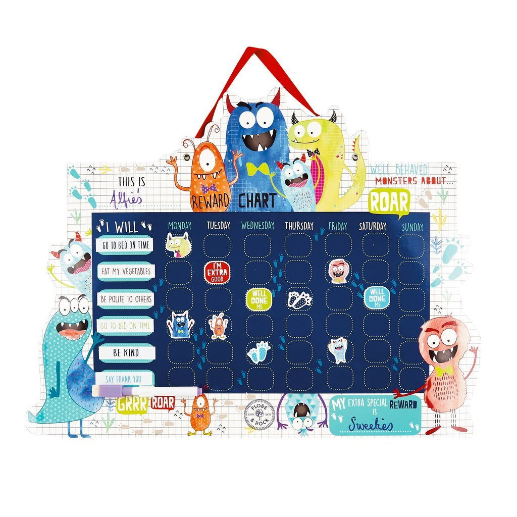 A bright colorful and fun reward chart with friendly monsters aiding in keep those kiddos on task and learning about good behavior and following directions.