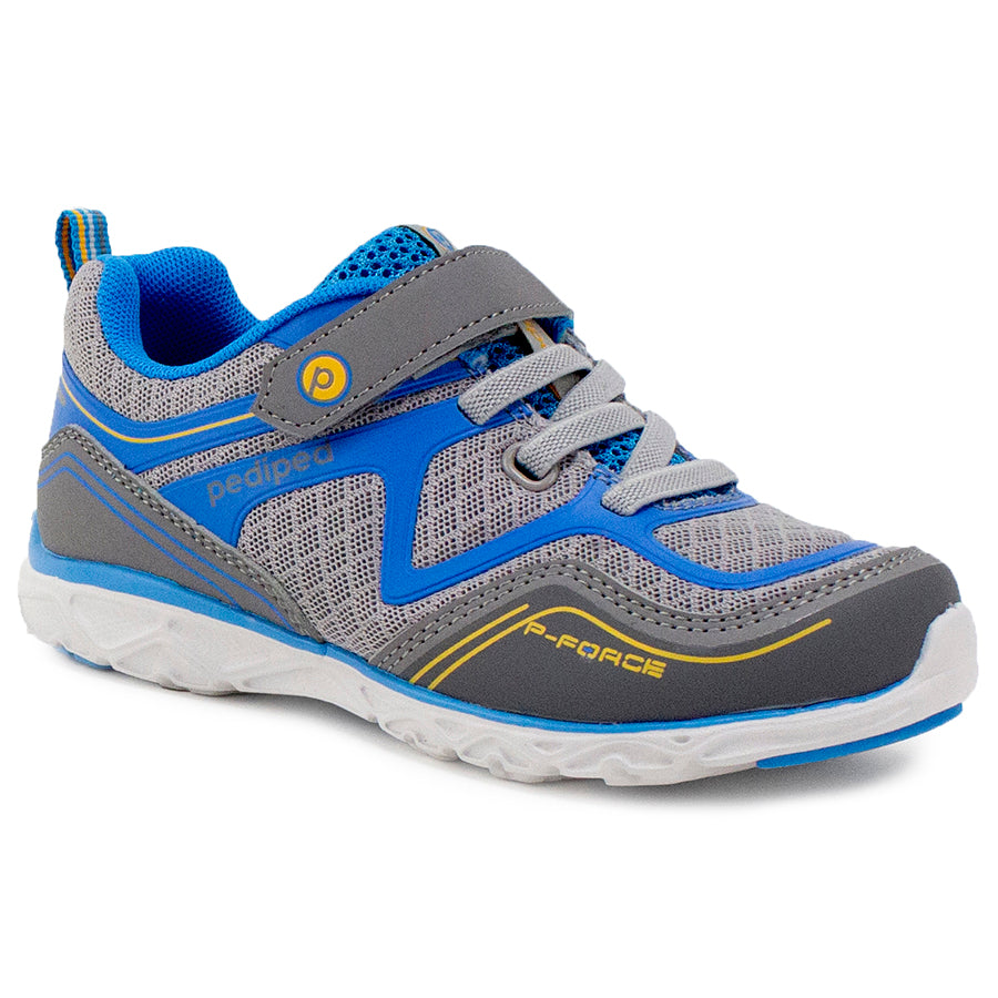 Pediped | Flex Force Grey Blue Athletic Sneakers