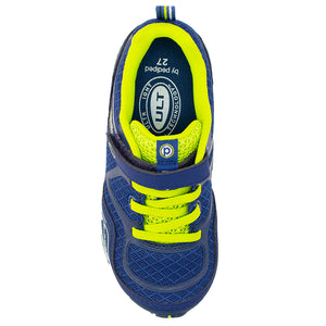 Pediped | Flex Force Indigo Lime Athletic Sneakers