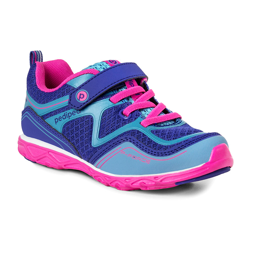 Pediped | Flex Force Navy Fuchsia Girls Sneakers