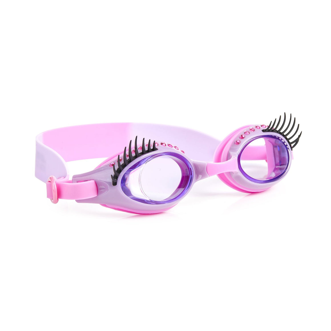 Bling2O | Girls Glam Lash Swim Goggles | Make-Up Artist Purple