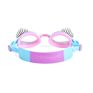 Bling2O | Girls Glam Lash Swim Goggles | Peri-Wink-le Blue
