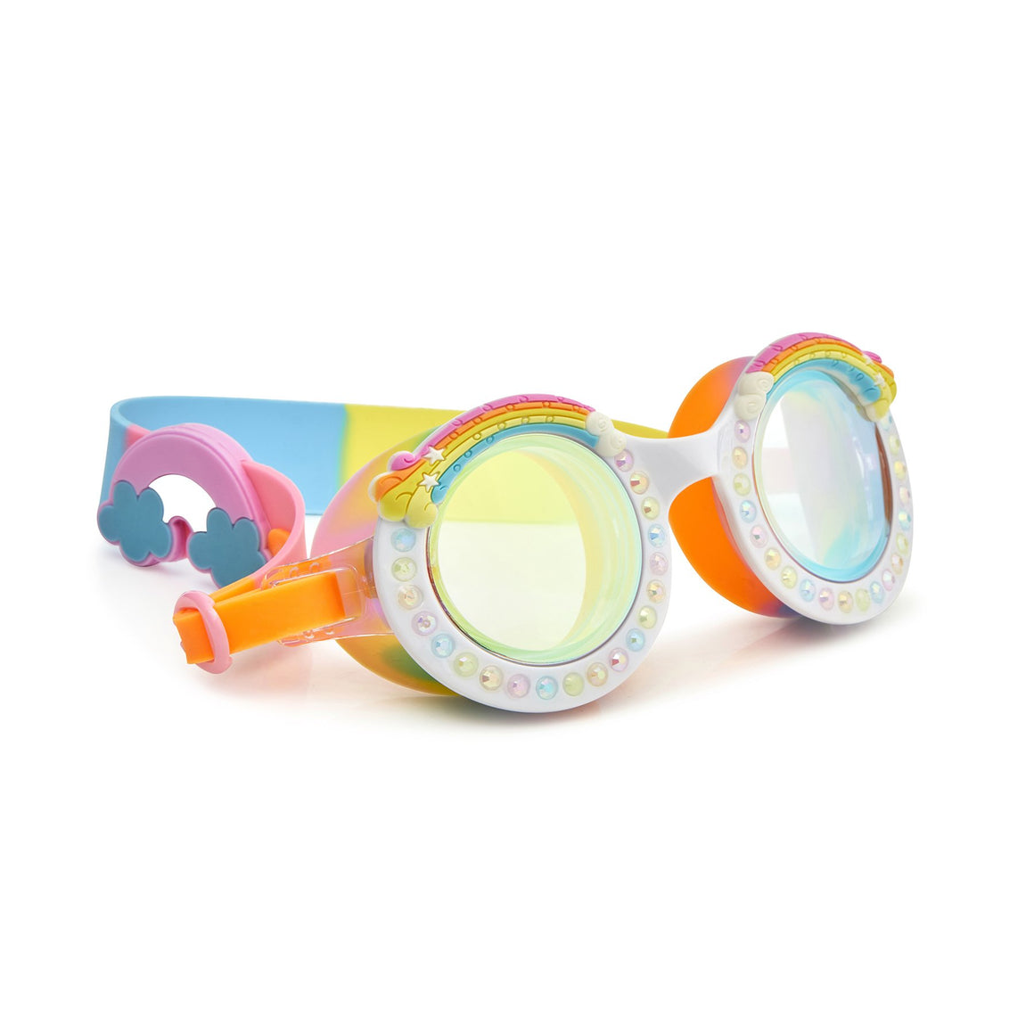 Bling2O | Girls Good Vibes Swim Goggles | Rainbow
