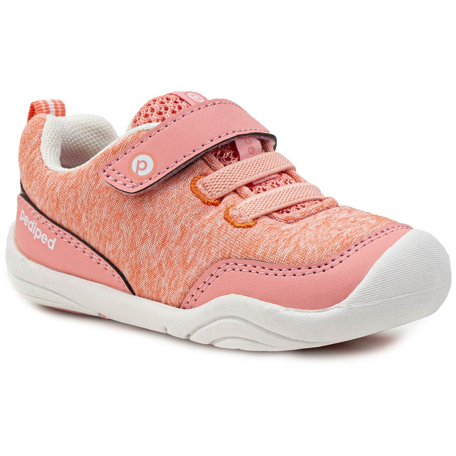 Pediped | Grip 'n' Go Troop Coral Toddler Sneakers