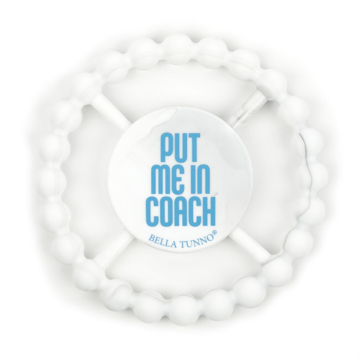 Easy grip 100% FDA Approved Food Grade Silicone Put Me In Coach ball teether marble colored