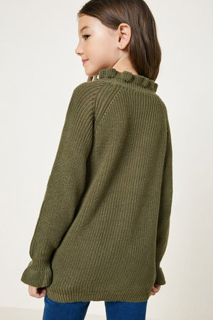 Hayden Girls | High Neck Ruffle Sweater