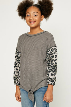Hayden Girls | Tie Front Top | Leopard
