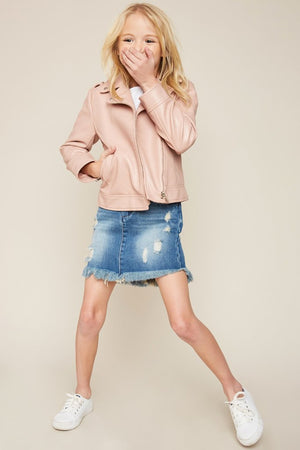 Hayden Girls | Paper Bag Denim Skirt