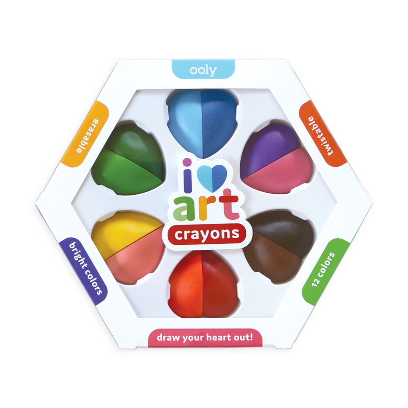 ooly | I Heart Art Erasable Crayons | Set of 6