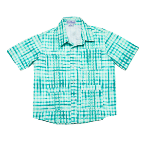 Blue Quail Clothing Co | SS Guayabera Collection | Jade Watercolor