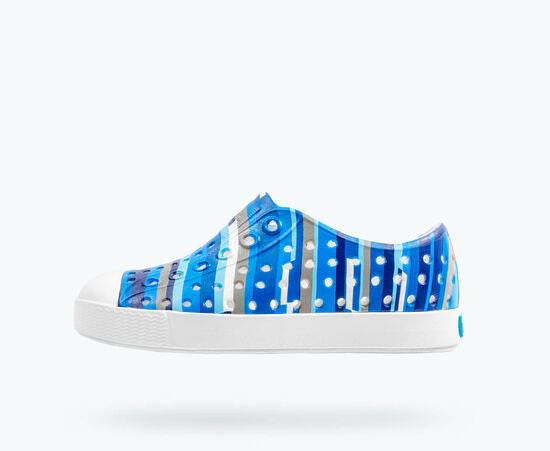 Native | Jefferson | Blue Multi Stripes / Shell White