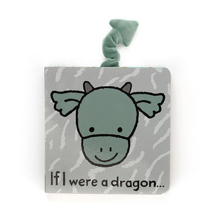 A sweet little board book, If I Were a Dragon, with a soft plush tail. A perfect baby gift paired with Drake Dragon or Bashful Dragon plush toy.