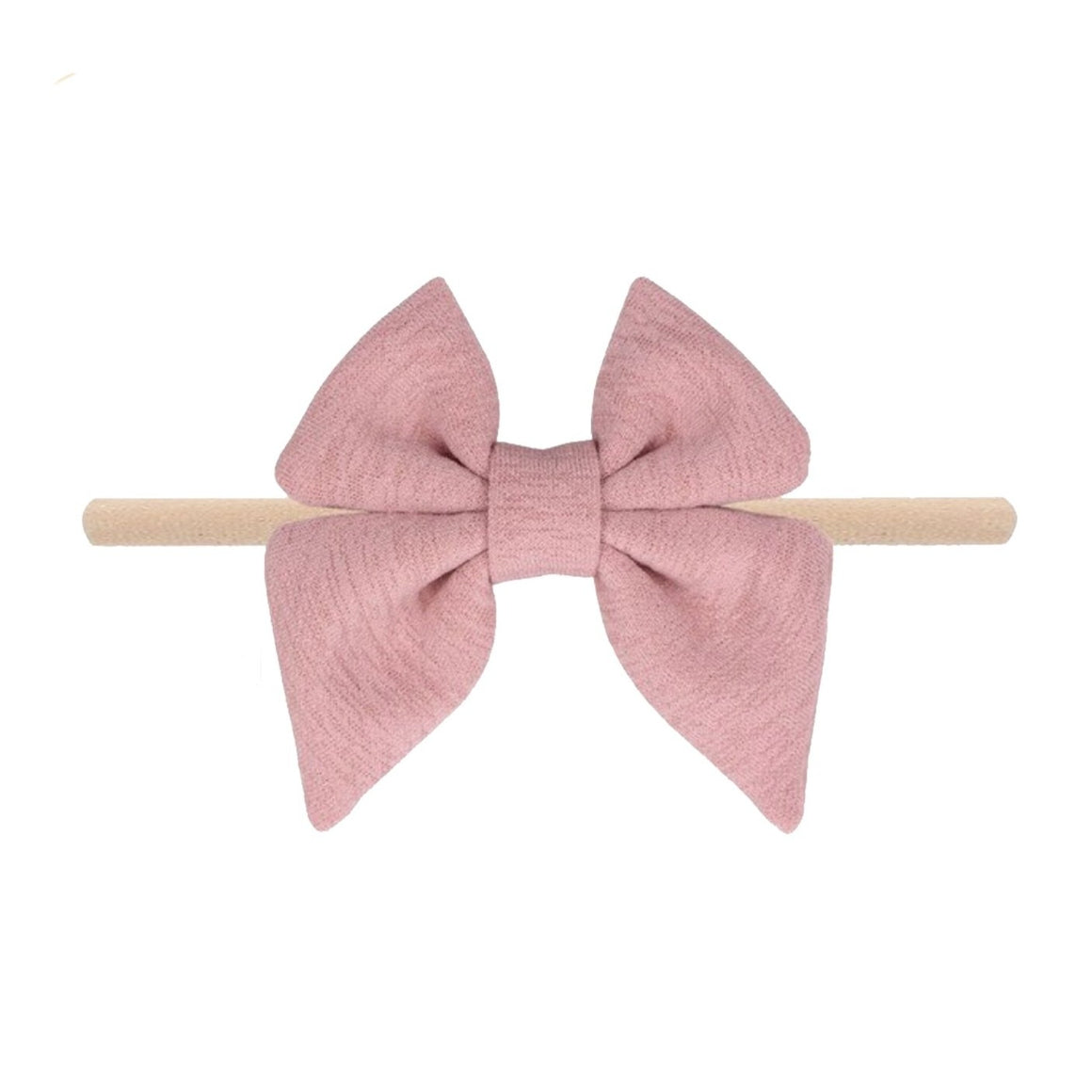 Emerson and Friends | Jersey Bow Baby Headband | Pink