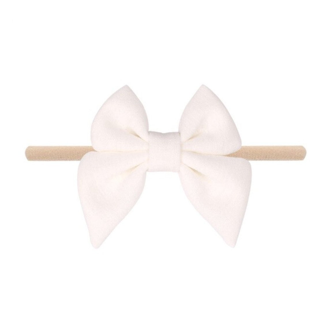 Emerson and Friends | Jersey Bow Baby Headband | White