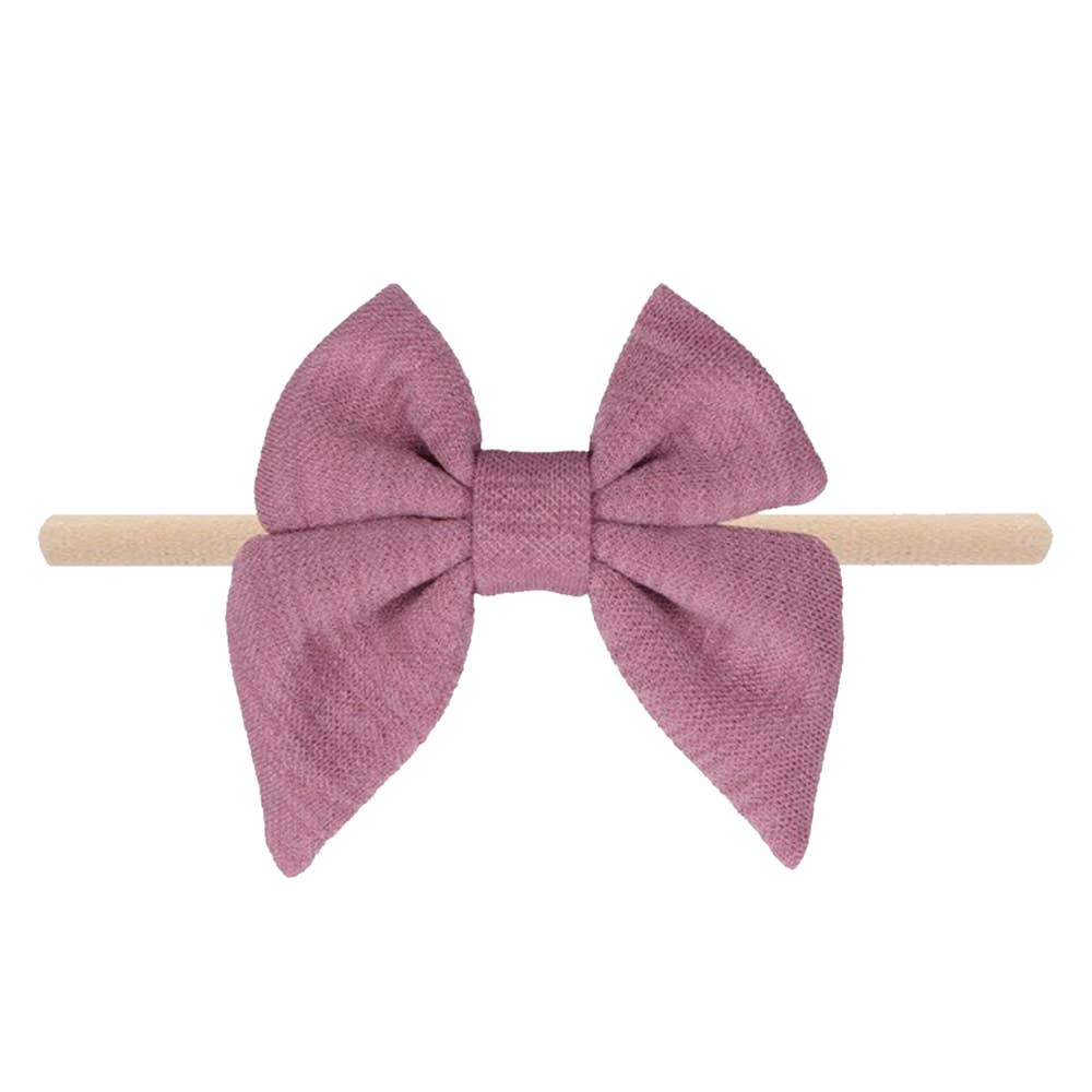 Emerson and Friends | Jersey Bow Baby Headband | Mauve