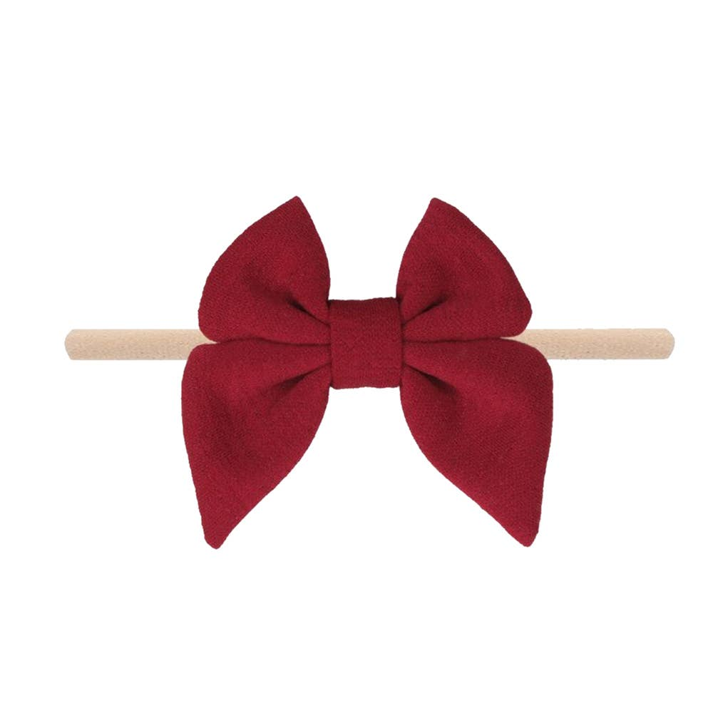 Emerson and Friends | Jersey Bow Baby Headband | Merlot