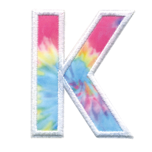iScream | K Initial Tie Dye Sticker Patch