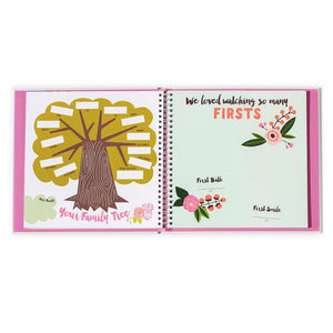 "Lucy Darling Baby's First Year ""Little Artists"" Memory Book family tree, baby's firsts"
