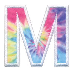 iScream | M Initial Tie Dye Sticker Patch