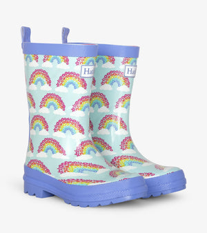 Hatley Magical Rainbows Shiny Rain Boots FRONT