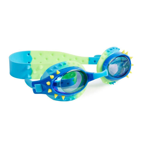 Bling 2O Boys Nelly Lochness Blue Yellow Spikes Swim Goggles
