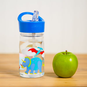 Wildkin Olive Kids Dinosaur Land Water Bottle