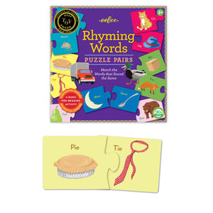 eeboo | Rhyming Words Puzzle Pairs