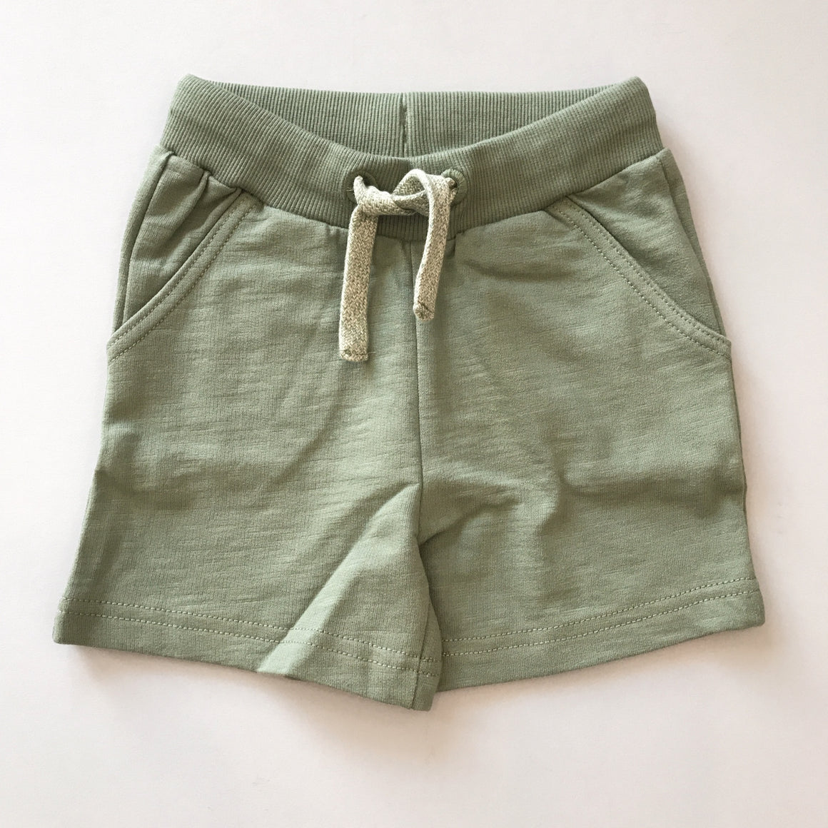 Minymo | Agave Green Drawstring Shorts