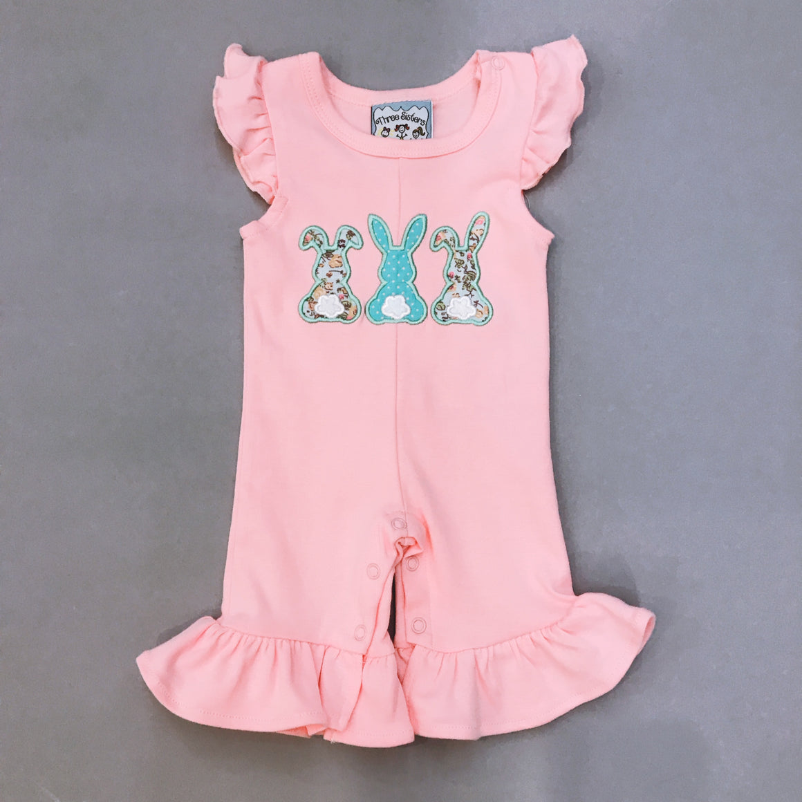 Three Sisters | Hippity Hop Applique Girls Romper