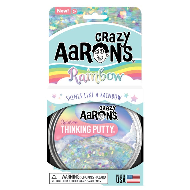 Crazy Aaron's | Rainbow Glitter Thinking Putty