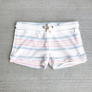Vintage Havana | Tropical Multi Stripe Baja Shorts