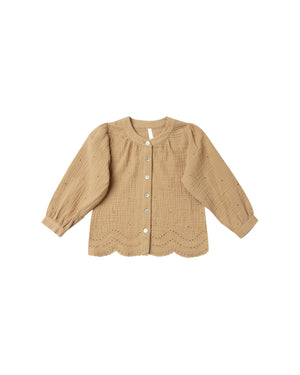 Rylee and Cru Snowbird Meadow Blouse - Eyelet in Honey