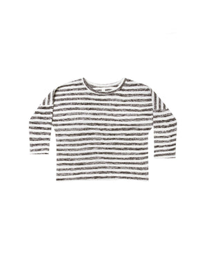 Rylee and Cru Snowbird Boxy Striped Tee in Ivory | Black