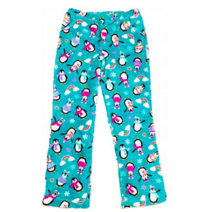 Candy Pink Girls Fleece Plush Penguin Pajama Lounge Pant