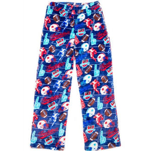 Candy Pink Boys Fleece Plush Football Pajama Lounge Pant