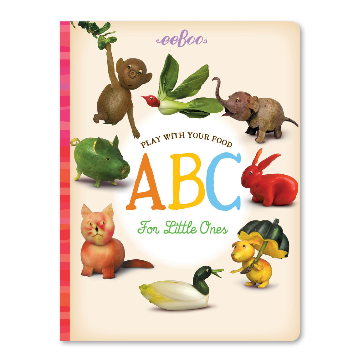 eeboo | Play With Your Food Board Book | ABC For Little Ones