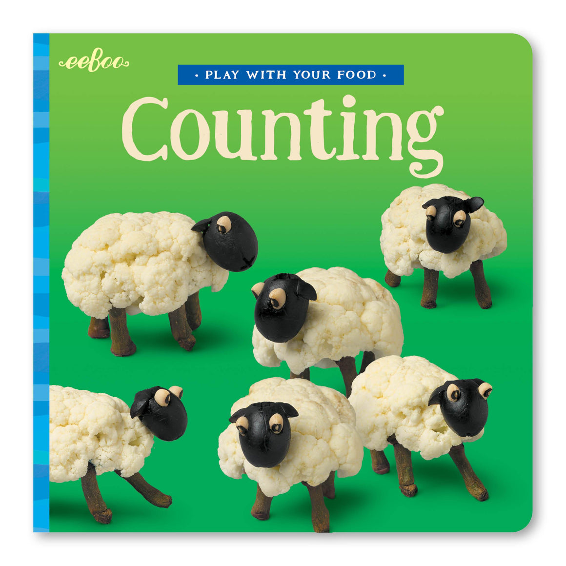 eeboo | Play With Your Food Board Book | Counting