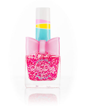 Little Lady Confetti Glitter Nail Polish | Princess Kisses