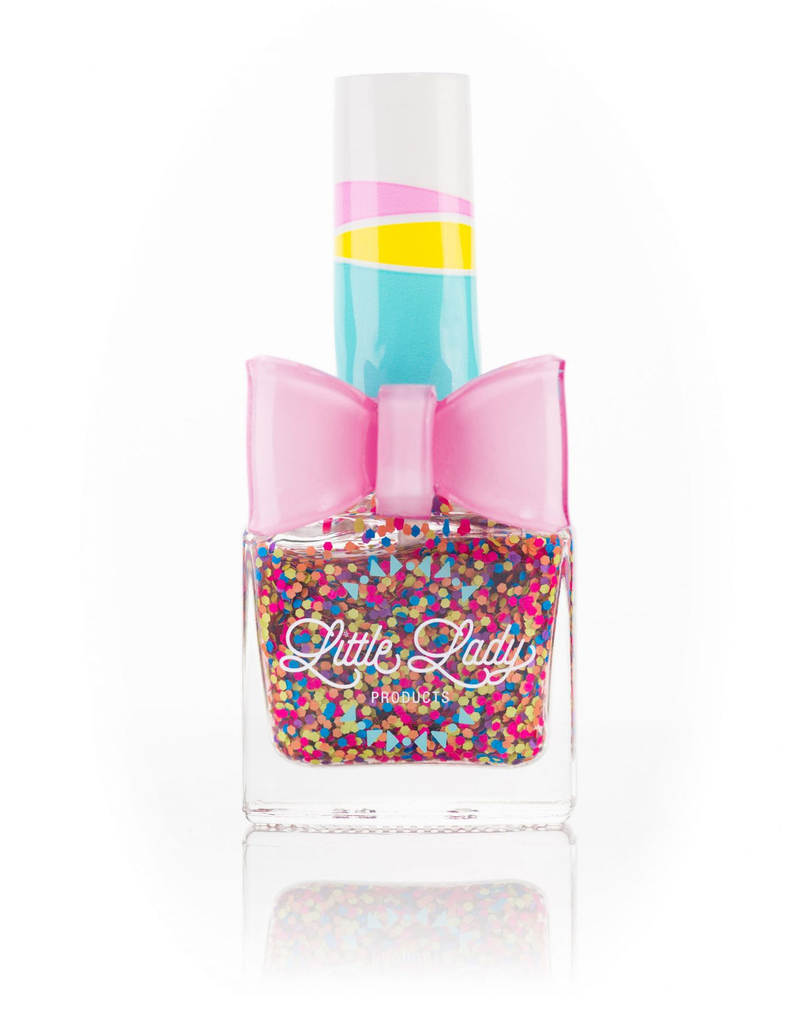 Little Lady Glitter Nail Polish | Rainbow Bubbles