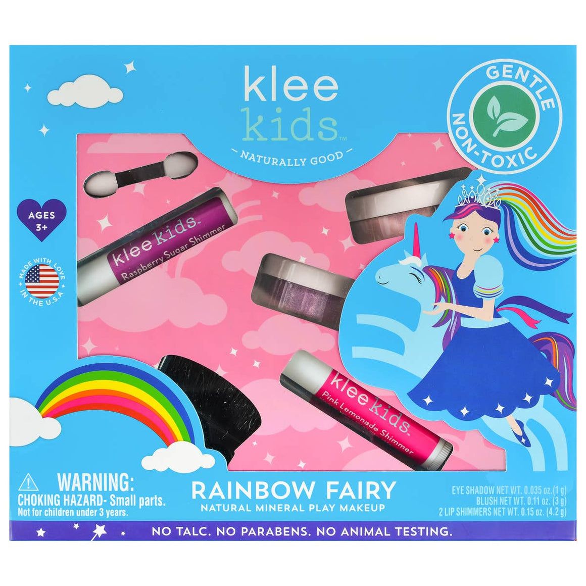 Klee Kids | Natural Mineral Play Makeup Kit | Rainbow Fairy