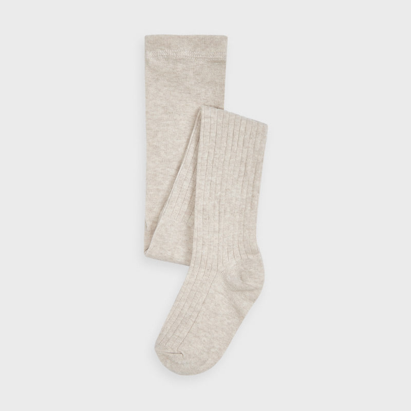 Mayoral | Cable Knit Ribbed Tights | Sand