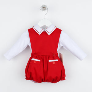Sophie & Lucas | Holiday | Red Corduroy Boys 2pc Overall (NEW)