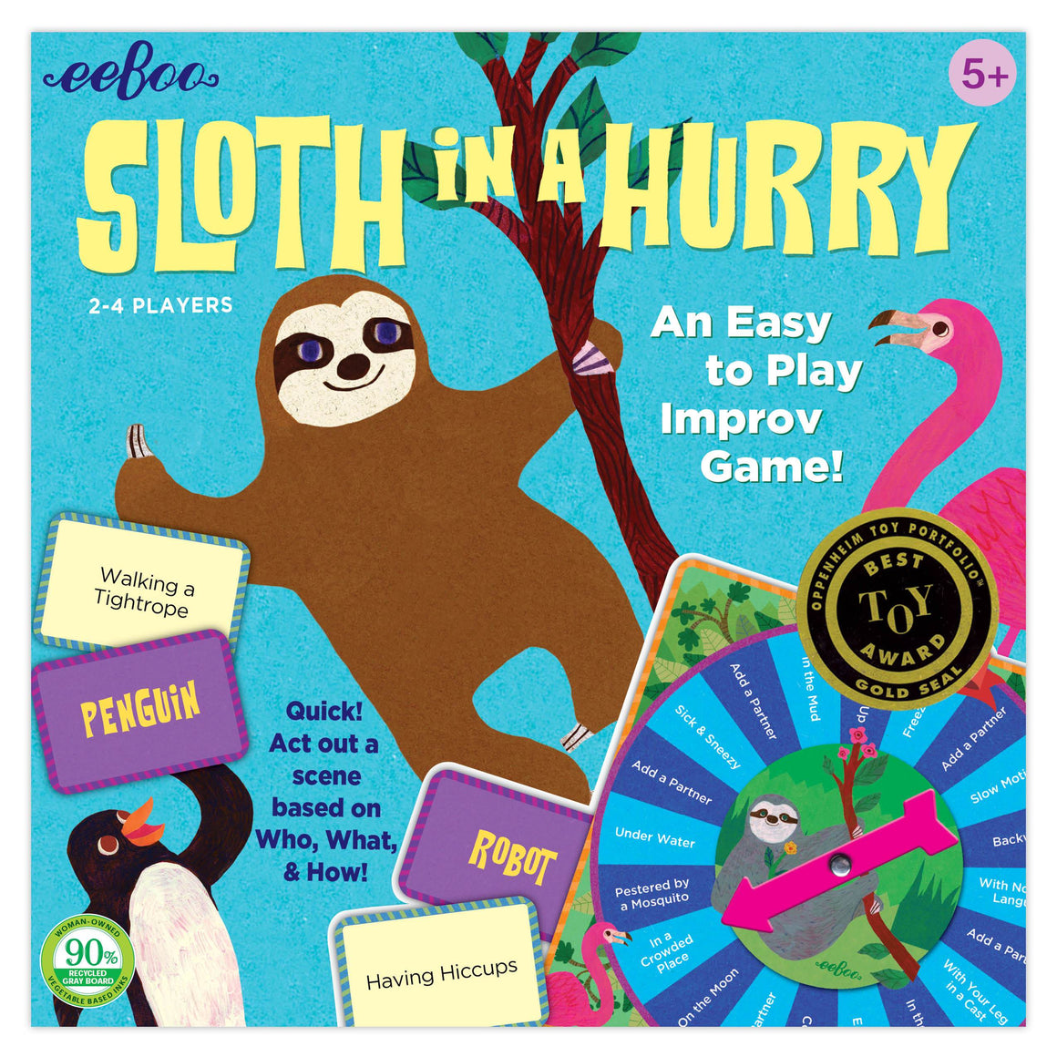 eeboo | Sloth in a Hurry Action Game