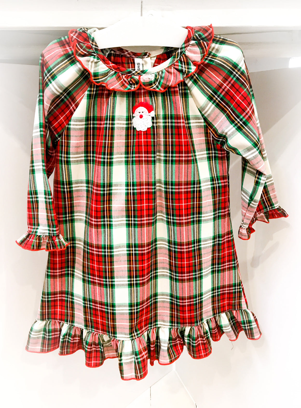 Sweet Dreams | Holiday | Santa Plaid Night Gown (NEW)