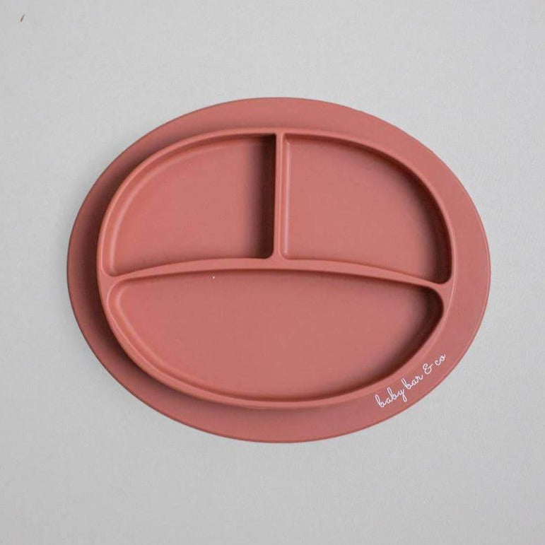 Baby Bar & Co by Three Hearts | Silicone Suction Divided Plate | Autumn Glaze