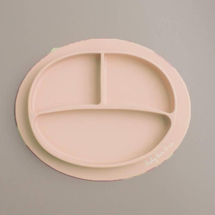 Baby Bar & Co by Three Hearts | Silicone Suction Divided Plate | Dusty Pink