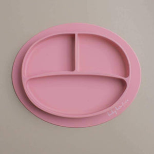 Sili Suction Divided Plate in Dusty Rose. For baby and toddler.100% free BPA, PVC, lead, cadmium & phathalate silicone.