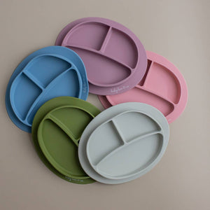 Baby Bar & Co by Three Hearts | Silicone Suction Divided Plate | Taupe