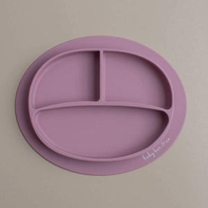 Sili Suction Divided Plate in Mauve. For baby and toddler.100% free BPA, PVC, lead, cadmium & phathalate silicone.
