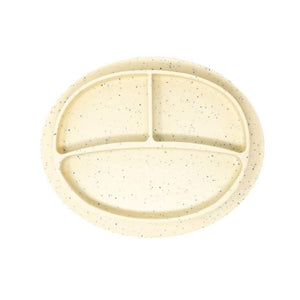 Baby Bar & Co by Three Hearts | Silicone Suction Divided Plate | Navajo Beige Speckled